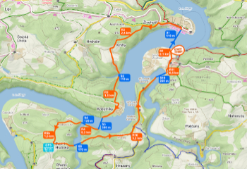 Czech Swimrun Tour - Slapy - trasa sprint