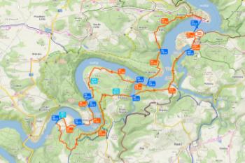Czech Swimrun Tour - Slapy - trasa standard