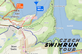 swimrun Orlík 2019 mapa