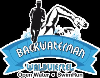 logo swimrun Backwater transparetní