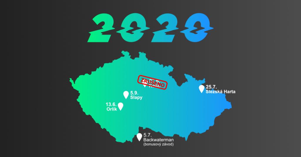 Mapa závodů - aktualizovaný stav